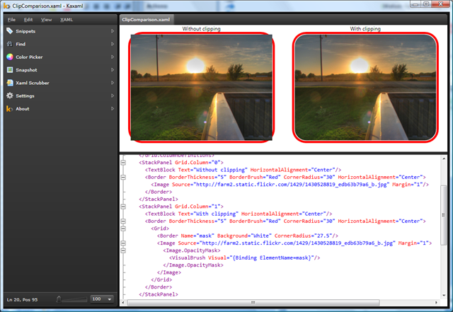 WPF – Easy rounded corners for anything | Chris Cavanagh's Blog