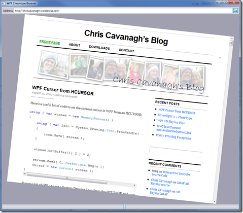 A Real WPF WebBrowser | Chris Cavanagh's Blog